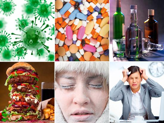 факторы провоцирующие псориаз: инфекции, лекарства, алкоголь и др.
