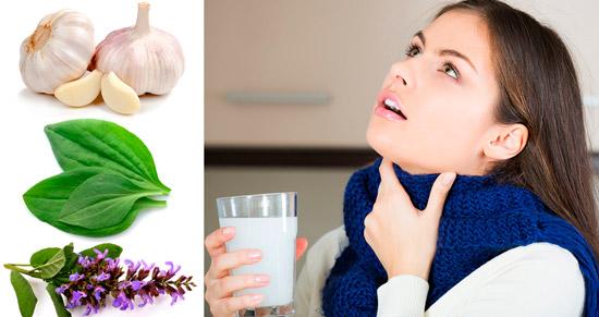 народные средства для полоскания горла