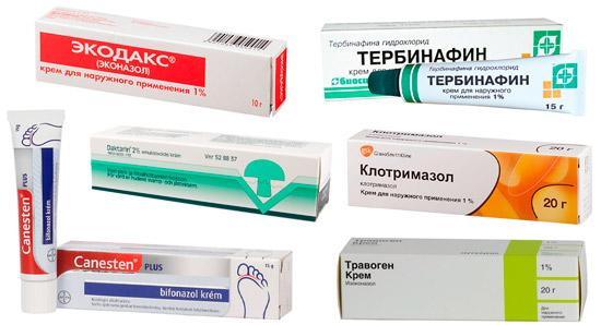 наружные средства для лечения лишая: Бифоназол, Клотримазол, Экодакс и др.