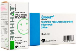 препарат Зиннат для детей