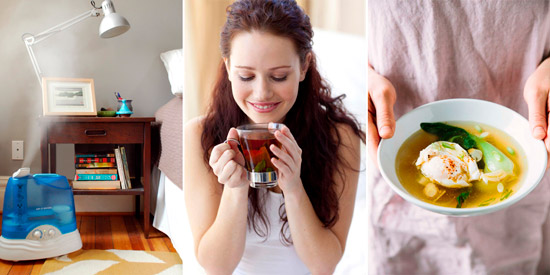 создание комфортных условий и питание для больного
