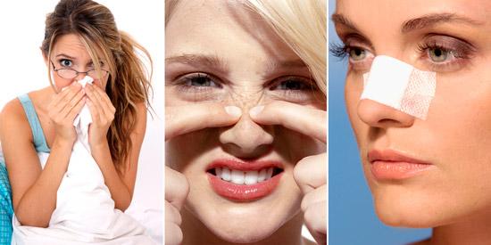 факторы нарушения обоняния: насморк, образования в носу, травмы