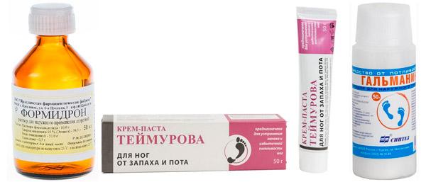 рекомендуемые препараты: Формидрон, паста Теймурова, Гальманин