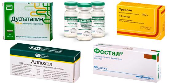 препараты для комплексного лечения: Дуспаталин, Цефазолин и др.