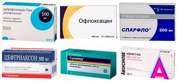 антибиотики для лечения пиелонефрита: Ципрофлоксацин, Цефтриаксон , Сумамед и др.