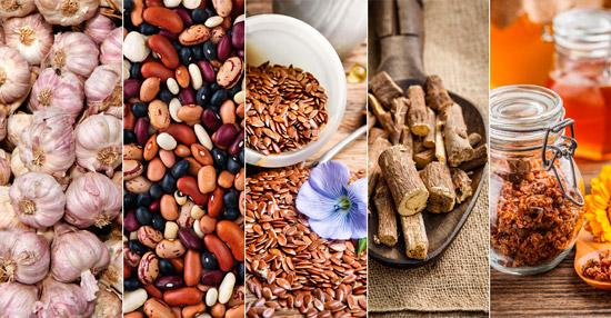натуральные средства от холестерина: чеснок, фасоль, лен и др.