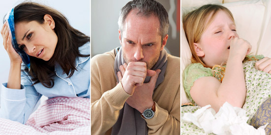 симптомы пневмонии: озноб, кашель, слабость