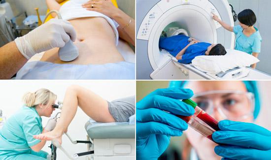 методы диагностики: УЗИ, МРТ, гистероскопия, анализ крови