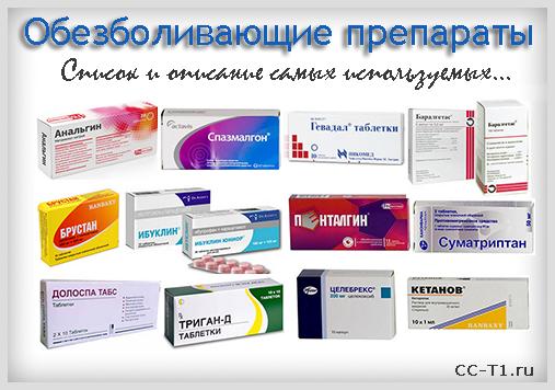 Обезболивающие препараты, анальгетики. Список эффективных ...