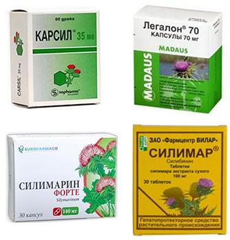 Лекарства для лечения гепатоза печени