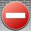 запрещающий знак - кирпич