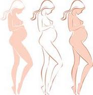 Рисуем беременную девушку