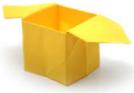 коробка желтая