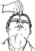 рисунок - закапывание в нос