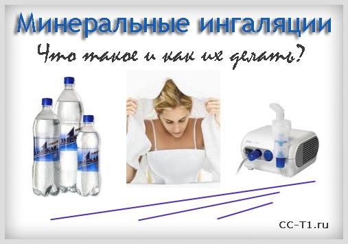 Ингаляции минеральной водой